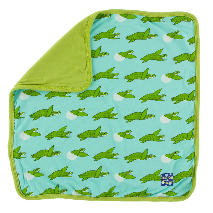 KicKee Pants Print Lovey - Glass Sea Turtles