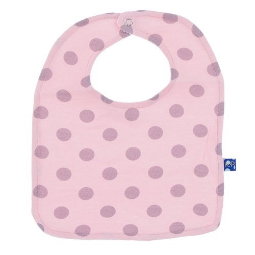 KicKee Pants Printed Bib - Lotus Feather Dot