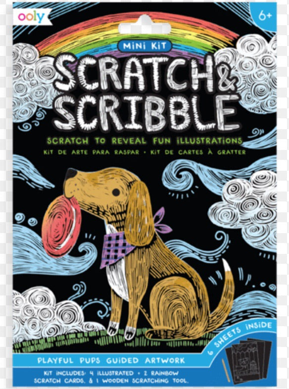Scratch & Science playful pups guided artwork