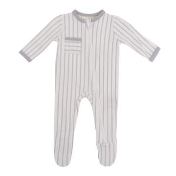 Kyte ZIPPERED FOOTIES IN STORM STRIPES