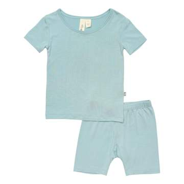 Kyte SHORT SLEEVE TODDLER PAJAMA SET IN Seafoam