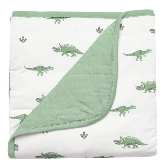 Printed Baby Blanket in Matcha/Dino - Matcha/Dino / 1.0 Tog / Infant
