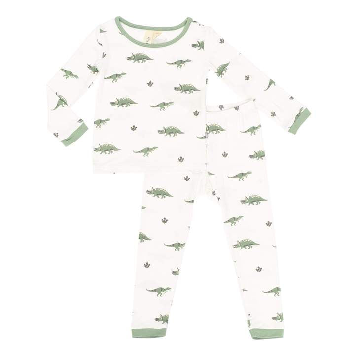Kyte Printed Toddler Pajama Set in Dino - Dino