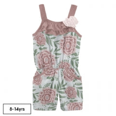 KICKEE PANTS PRINT FLOWER ROMPER WITH POCKETS FRESH AIR FLORIST