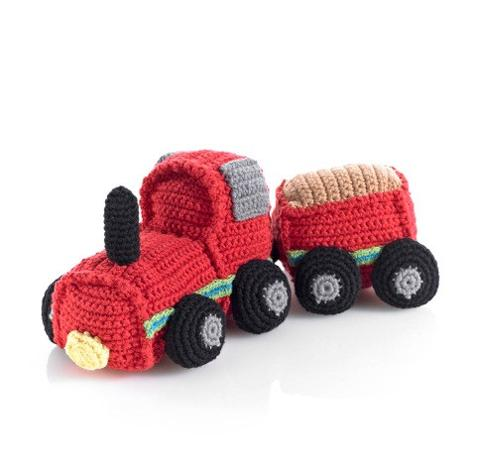Pebble - Crochet Train - Red