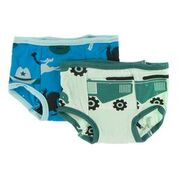 Training Pants Set Amazon Cowboy & Pistachio Tractor 3T-4T