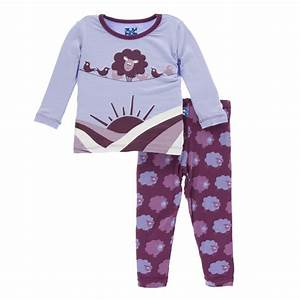 KicKee Pants Long Sleeve Pajama Set - Grapevine Sheep