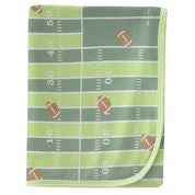 KICKEE PANTS PRINT SWADDLING BLANKET FOOTBALL