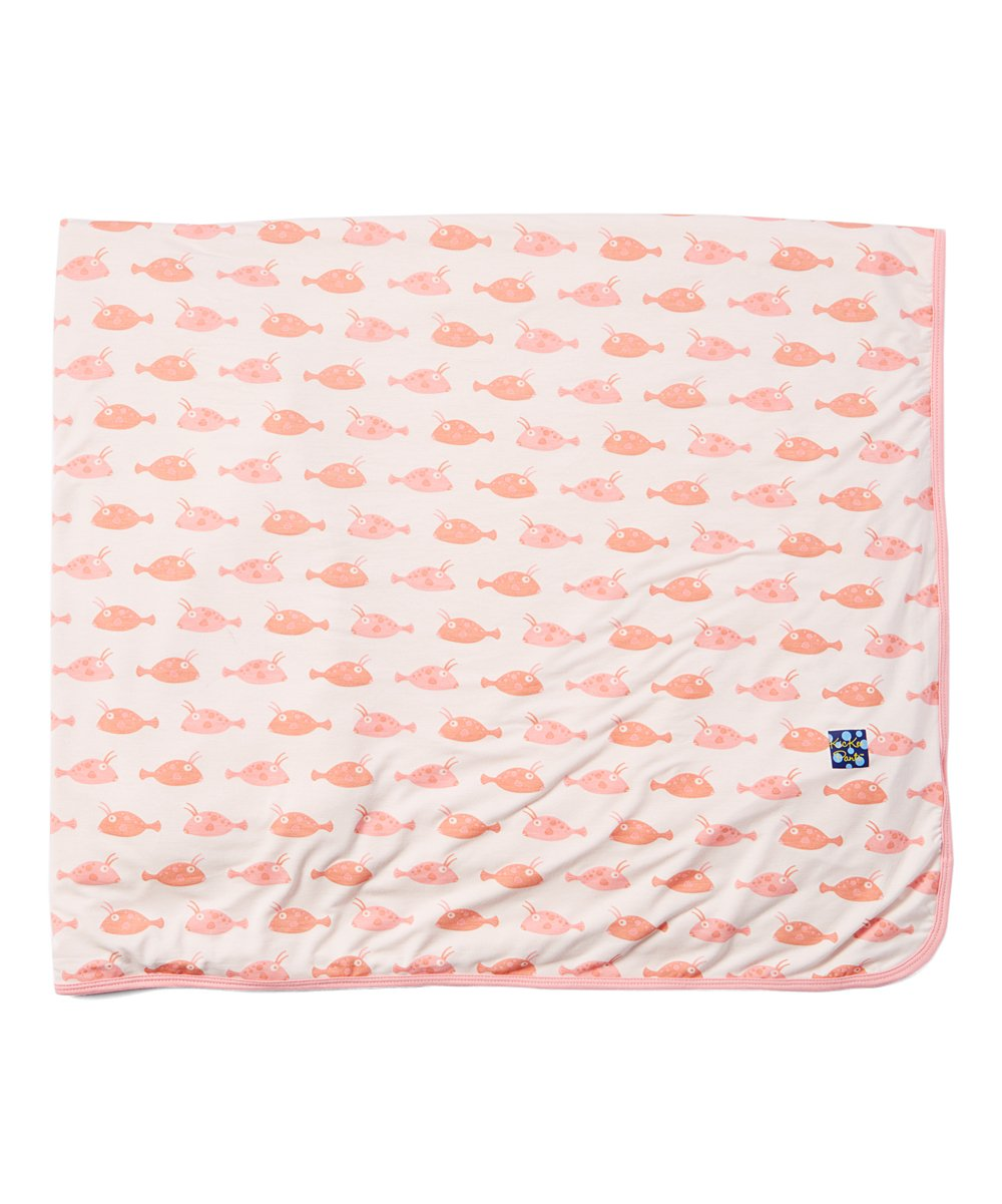 KICKEE PANTS GIRL COWFISH TODDLER BLANKET