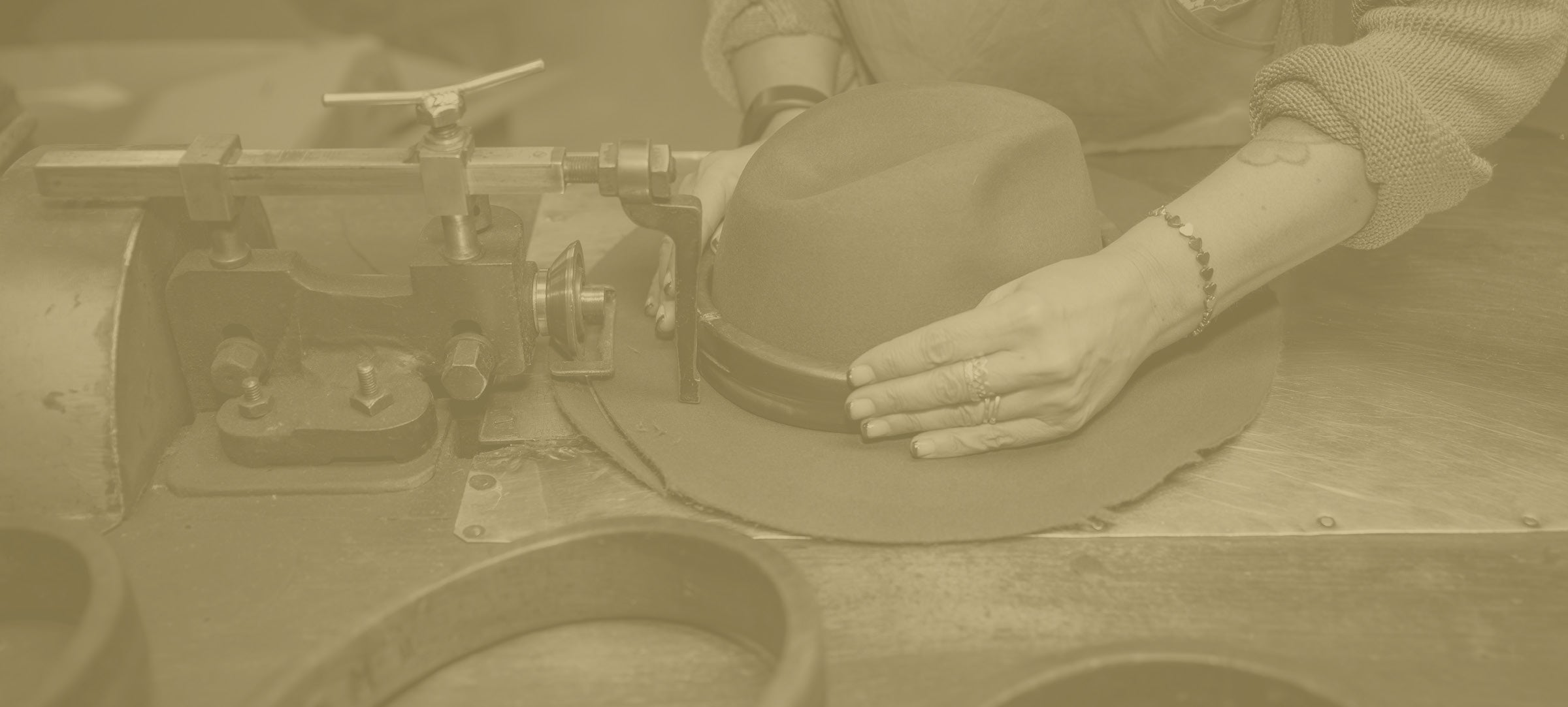 Borsalino fedora hat craftsmanship at work