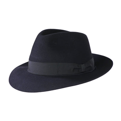 Bellagio 238 - Black, product_type] - Borsalino for Atica fedora hat