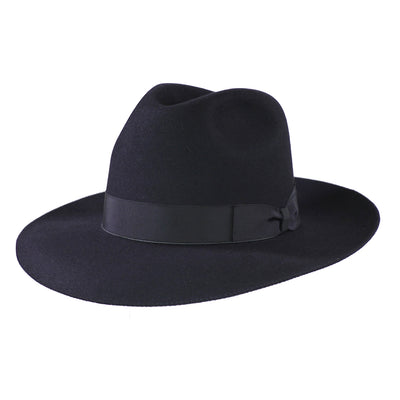 Mattoni 314 - Black, product_type] - Borsalino for Atica fedora hat