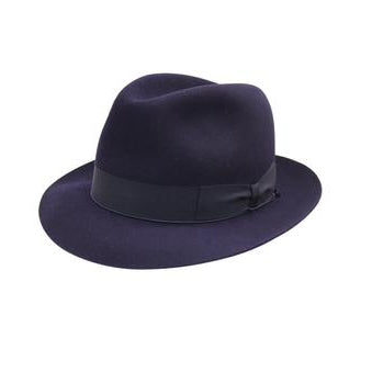 Andelli 214 - Navy, product_type] - Borsalino for Atica fedora hat