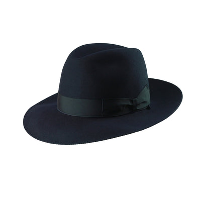 Mattoni 300 - Navy, product_type] - Borsalino for Atica fedora hat