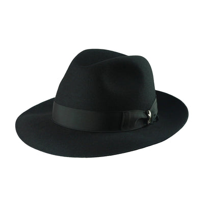 Astuccio 238 - Black, product_type] - Borsalino for Atica fedora hat