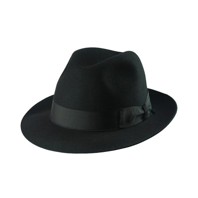 Andelli 214 - Black, product_type] - Borsalino for Atica fedora hat