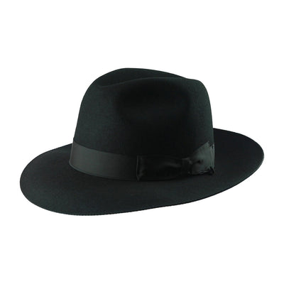 Mattoni 300 - Black, product_type] - Borsalino for Atica fedora hat