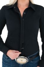 Women's Perfect Fit Western Show Shirt Black