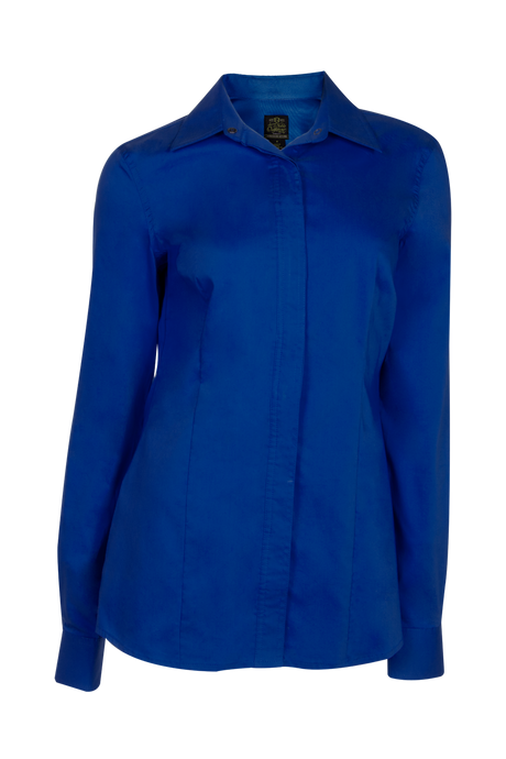 Women's Perfect Fit Western Show Shirt Royal Blue