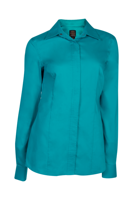 Women's Perfect Fit Western Show Shirt Turquoise