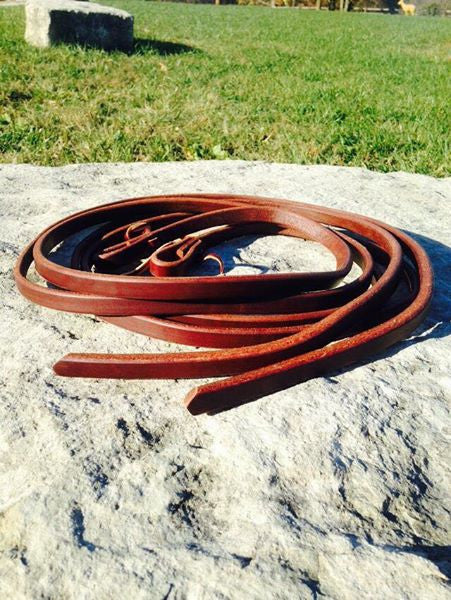 Hot Oil Leather Reins