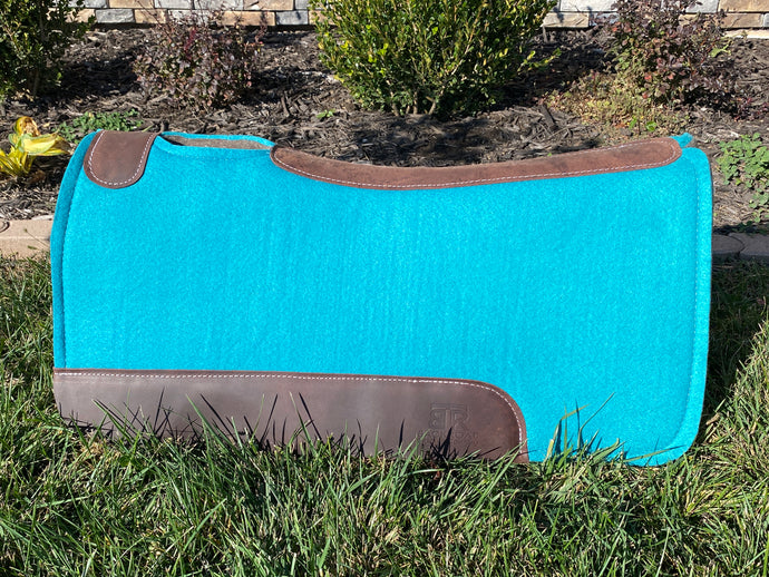 Backroad Trading Company Teal 32x32 Wool Work Pad