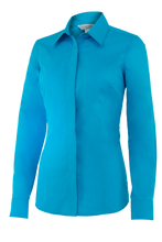 Women's Perfect Fit Western Show Shirt Crystal Blue
