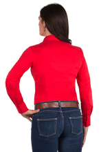 Women's Perfect Fit Western Show Shirt Red