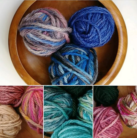 Natural Canadian yarn for fair isle