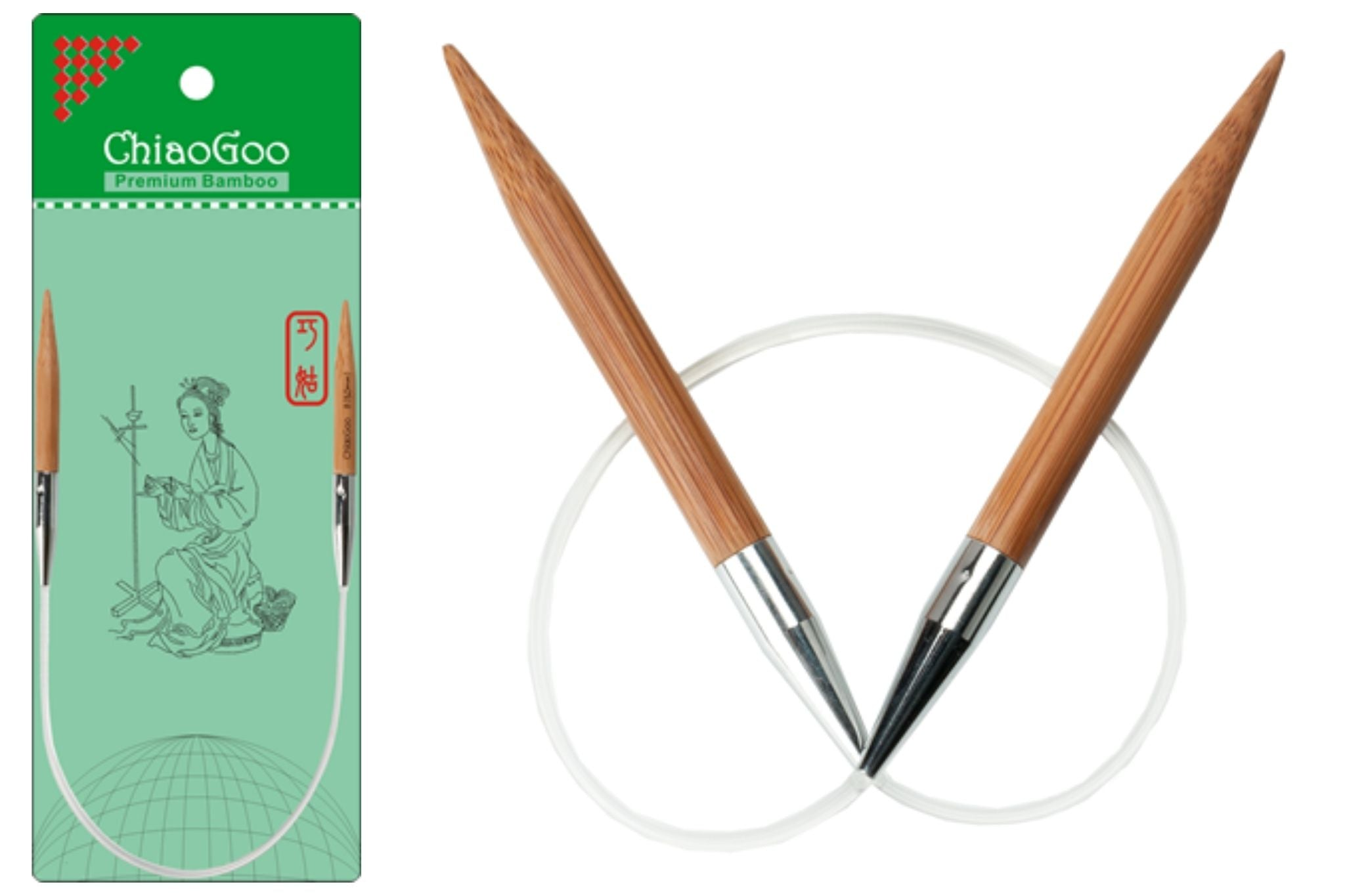 ChiaoGoo Short Cable Needles-12""