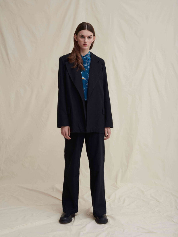 jenna organic cotton blazer black