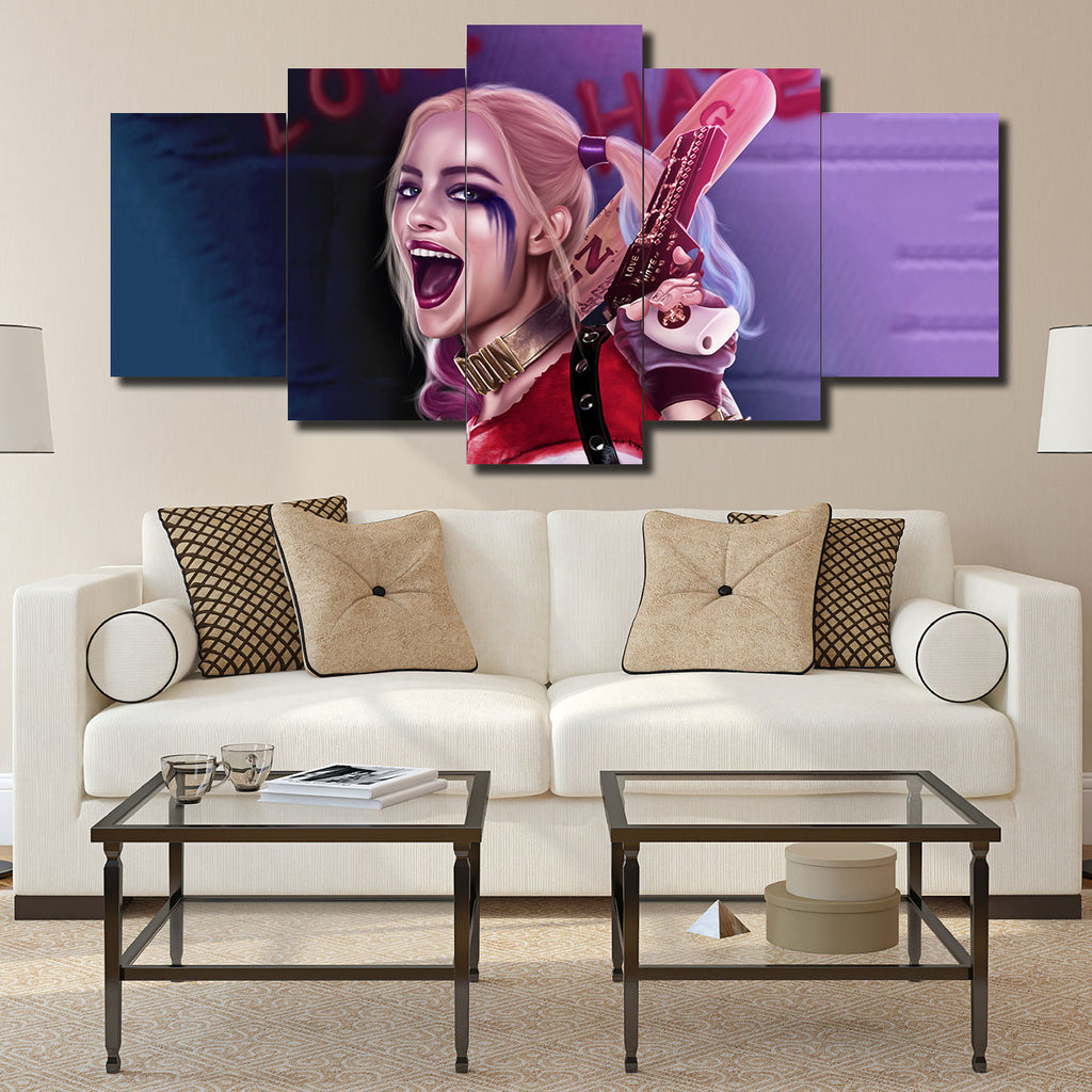 Canvas Wall Art -  Harley Quinn