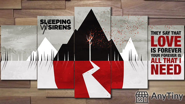 Canvas Wall Art -  Sleeping With Sirens