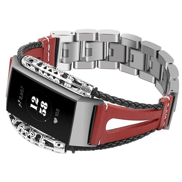 Charge 3 Retro Leather Band