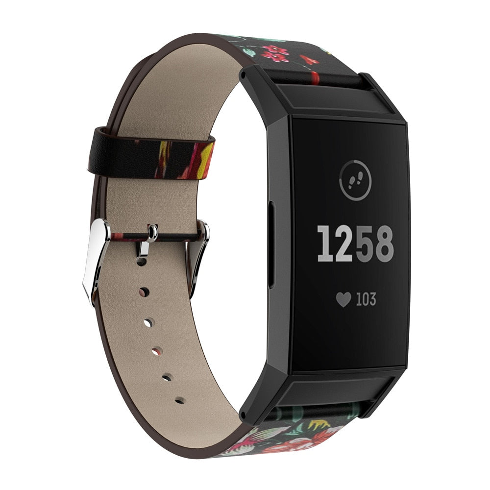 CHARGE 3 Leather Floral Band