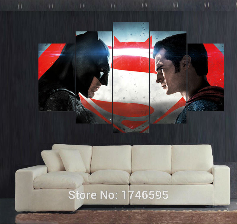 Canvas Wall Art - Batman vs Superman