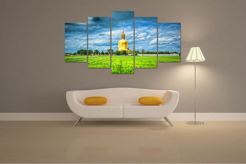 Canvas Wall Art - Buddha Statue