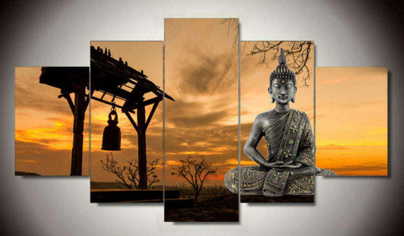 Canvas Wall Art - Buddha on Sunset