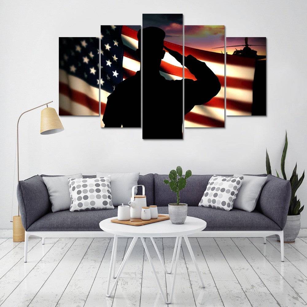 Canvas Wall Art - American Soldier