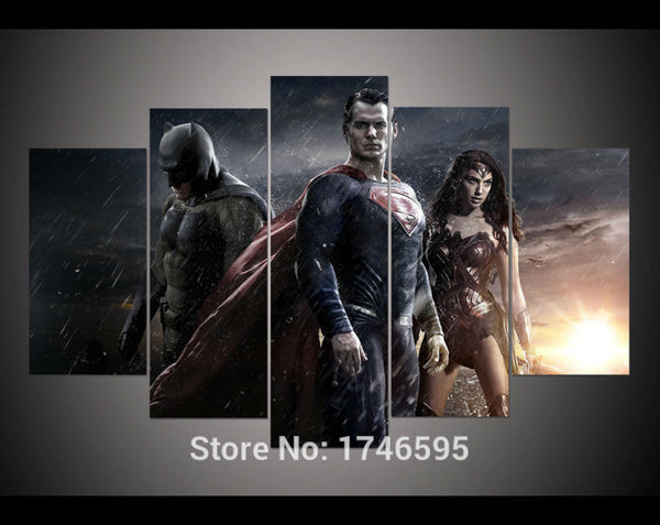 Canvas Wall Art - Batman vs Superman 5