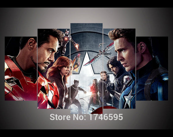 Canvas Wall Art - The Avengers Fight