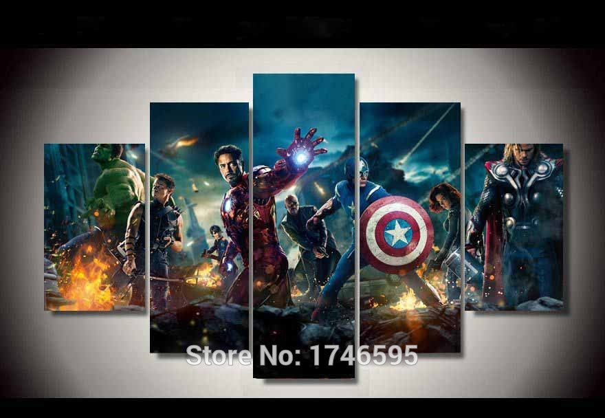 Canvas Wall Art - The Avengers Ion Man