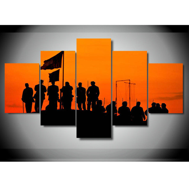 Canvas Wall Art - Army Troop
