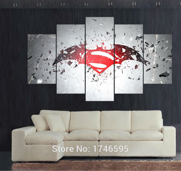 Canvas Wall Art - Superman Logo