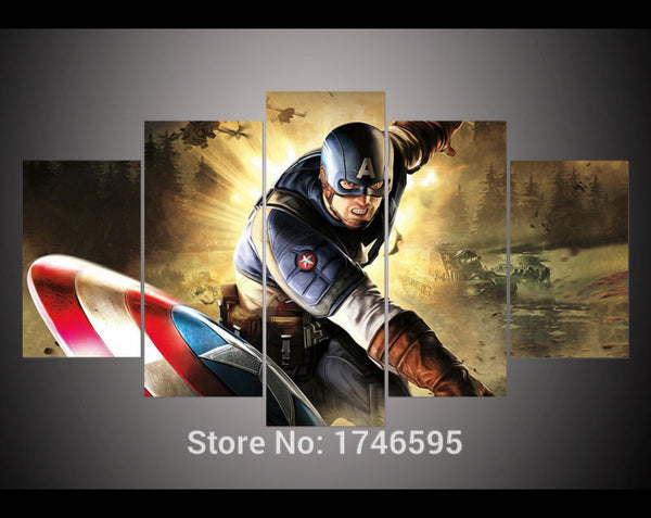Canvas Wall Art - Captain America