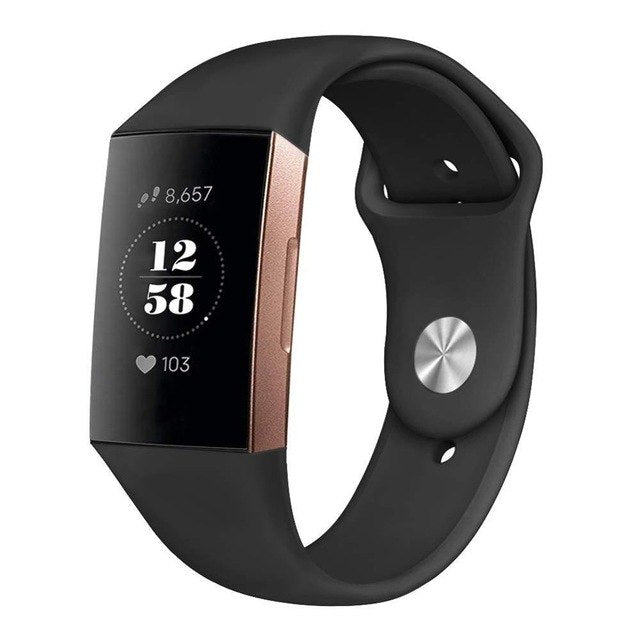 CHARGE 3 SOLID SILICONE BAND
