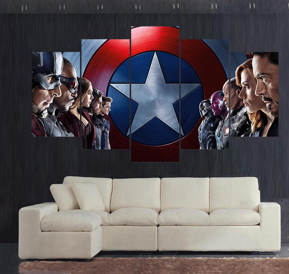 Canvas wall art the avengers 3