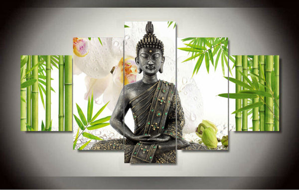 Canvas Wall Art - Buddha in Nature