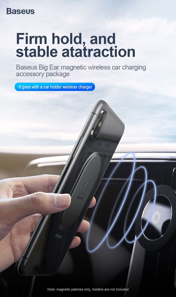 Baseus Car Phone Holder Magnetic Leather Sheet