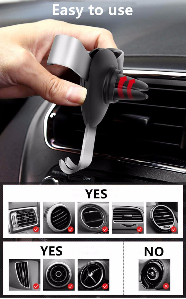 Gravity Air Vent Car Phone Holder
